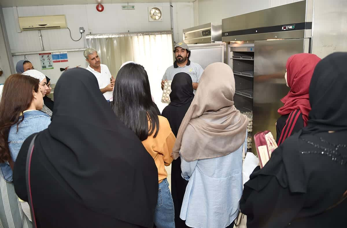 Emirates College of Technology demonstration